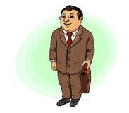 усмехаться бизнесмена портфеля Стоковое Изображение RF
