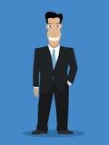 усмехаться бизнесмена Бесплатная Иллюстрация
