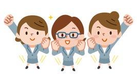 Усмехаться 3 бизнес-леди иллюстрация штока