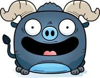 Усмехаться вола шаржа маленький голубой бесплатная иллюстрация