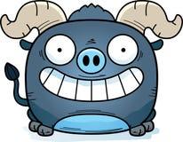 Усмехаться вола шаржа маленький голубой иллюстрация штока