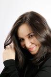 усмехаться волос девушки длинний Стоковые Фотографии RF