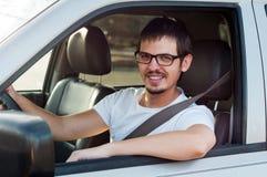 усмехаться водителя Стоковые Изображения RF