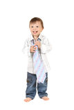 усмехаться галстука младенца Стоковые Изображения RF