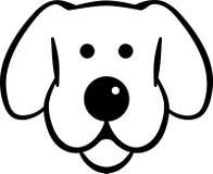Усмехаться головы собаки нарисованный иллюстрация вектора