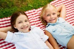 Усмехаться девушек Стоковое Изображение RF