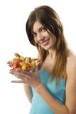усмехаться девушки плодоовощ Стоковые Изображения RF
