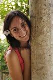 усмехаться девушки подростковый Стоковое Фото