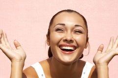 усмехаться девушки Стоковые Фото