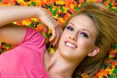 усмехаться девушки Стоковая Фотография RF