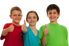 усмехаться детей счастливый Стоковая Фотография