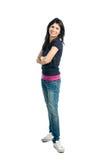 усмехаться длины полной девушки латинский Стоковая Фотография