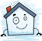 Усмехаться дома шаржа иллюстрация штока