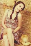 усмехаться девушки страны Стоковая Фотография RF