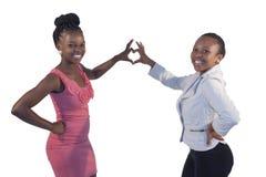 Усмехаться женщины 2 африканцев Стоковые Изображения