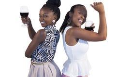 Усмехаться женщины 2 африканцев Стоковые Фотографии RF