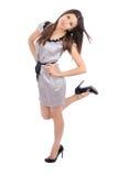 Усмехаться женщины брюнет полного тела красивейший Стоковые Фотографии RF