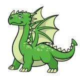 Усмехаться зеленого дракона мультфильма бесплатная иллюстрация
