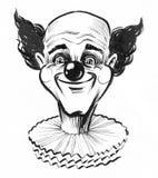 усмехаться клоуна иллюстрация вектора
