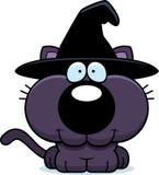 Усмехаться кота ведьмы шаржа иллюстрация вектора