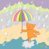 усмехаться кота иллюстрация штока