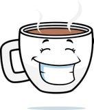 усмехаться кофе иллюстрация штока