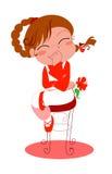 усмехаться красного цвета девушки Стоковое Фото
