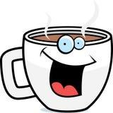 усмехаться кружки кофе иллюстрация вектора