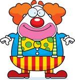 Усмехаться клоуна шаржа иллюстрация штока
