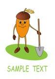 усмехаться лопаткоулавливателя жолудя бесплатная иллюстрация