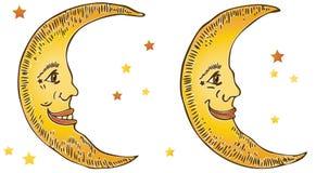 усмехаться лун Стоковое Изображение