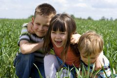 усмехаться малышей Стоковая Фотография