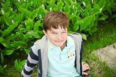 усмехаться мальчика милый Стоковое Изображение RF