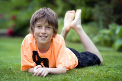 усмехаться мальчика Стоковое фото RF