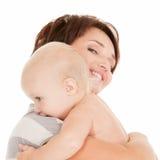 усмехаться мати младенца счастливый Стоковая Фотография RF