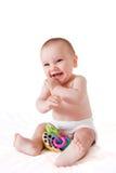усмехаться младенца счастливый сидя Стоковое фото RF