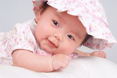 усмехаться младенца Стоковые Изображения