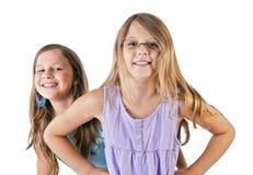 Счастливые девушки Стоковое Изображение