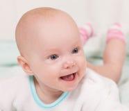 усмехаться младенца Радостное выражение Стоковая Фотография RF