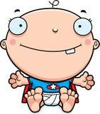 Усмехаться младенца супергероя шаржа бесплатная иллюстрация