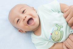 усмехаться младенца счастливый Стоковые Фотографии RF
