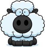 Усмехаться овечки шаржа Стоковое фото RF