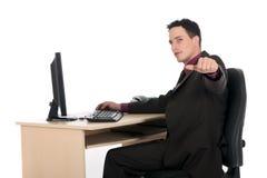 усмехаться офиса бизнесмена Стоковая Фотография RF