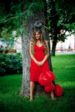 усмехаться парка девушки Стоковое Фото