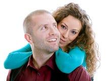 Усмехаться пар влюбленности Стоковое Изображение RF