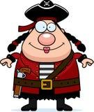 Усмехаться пирата женщины иллюстрация штока