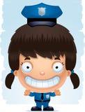 Усмехаться полицейского девушки шаржа иллюстрация штока