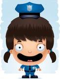 Усмехаться полицейского девушки шаржа бесплатная иллюстрация