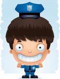 Усмехаться полицейского мальчика шаржа иллюстрация штока