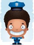 Усмехаться полицейского мальчика шаржа бесплатная иллюстрация